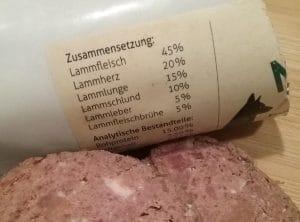 Der Fleisch-Anteil im Hunde-Menü.