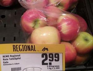 Äpfel, behandelt und verpackt
