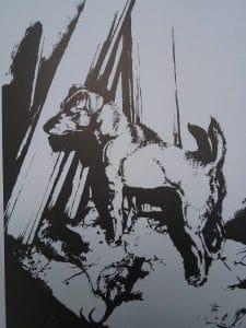 Jack Russell Terrier Zeichnung von Martin Knowelden