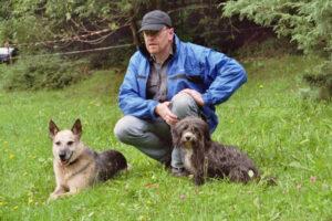Zwei Hunde halten